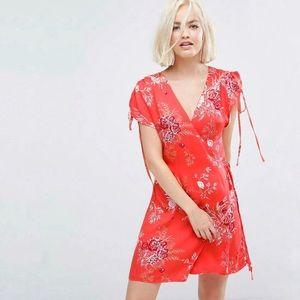 NWT MinkPink Hot Springs Drawstring Wrap Dress, XS